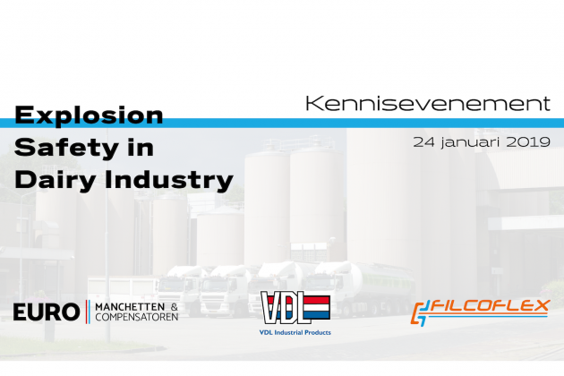Kennisevenement: Explosion Safety in Dairy Industry